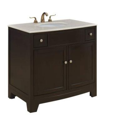 36'' Single Bathroom Vanity set in Dark brown - VF-1036
