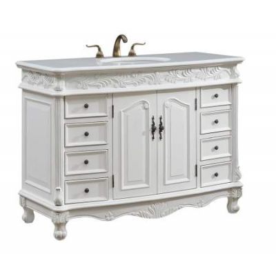 48'' Single Bathroom Vanity set in Antique White - VF-1039