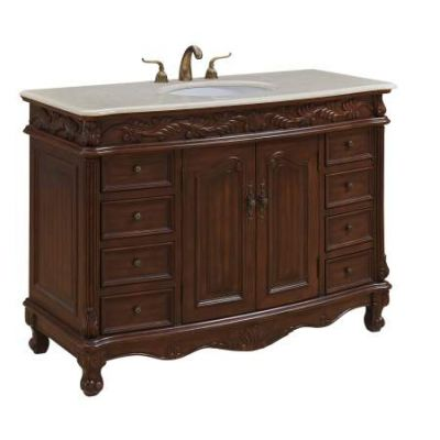 48'' Single Bathroom Vanity set in Teak color - VF-1040