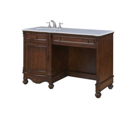 52'' Single Bathroom Vanity set in Teak color - VF-1044