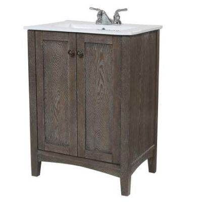 Danville 34'' Bath Vanity in Weathered Oak finish - VF-2004