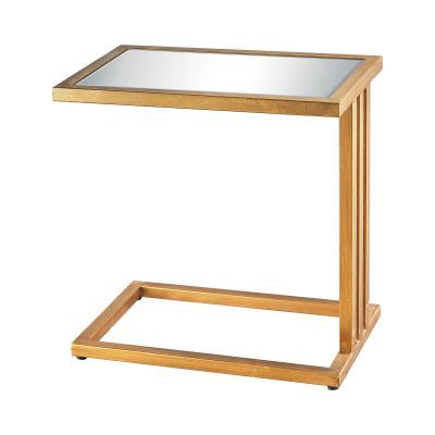 Andy Side Table In Gold Leaf And Clear Mirror - 1114-199