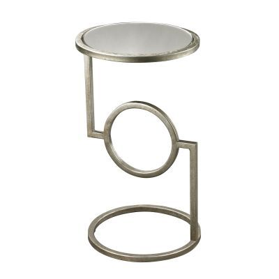 Mirrored Top Hurricane Side Table - 114-107