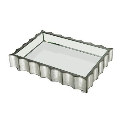 Small Scalloped Edge Mirror Tray - 114-128