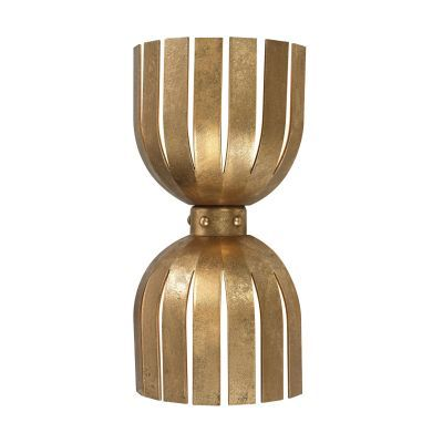 Olympia Double Wall Sconce In Gold Leaf - 114-141