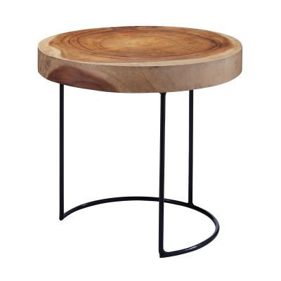 Suar Wood Slab Accent Table - 159-008