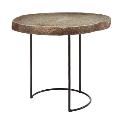 Stone Slab And Wire Frame Table - Short - 159-010