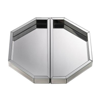 Set of Two Mirrored Trays - 173-010