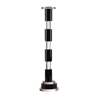 Black And Clear Crystal Rod Candleholder - 329003
