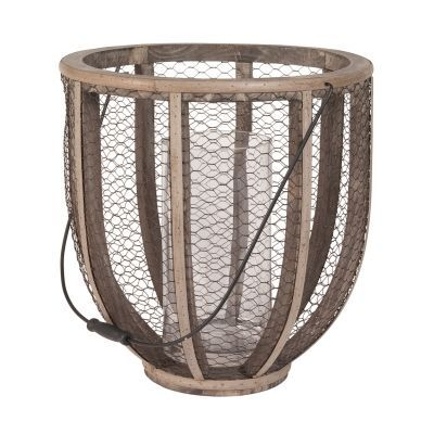 Barrel Wire Atlas Hurricane Vase - 594028