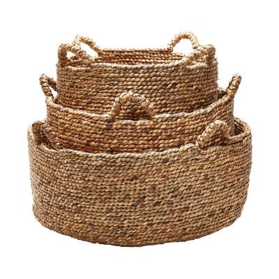 Natural Low Rise Baskets - Set of 3 - 784083