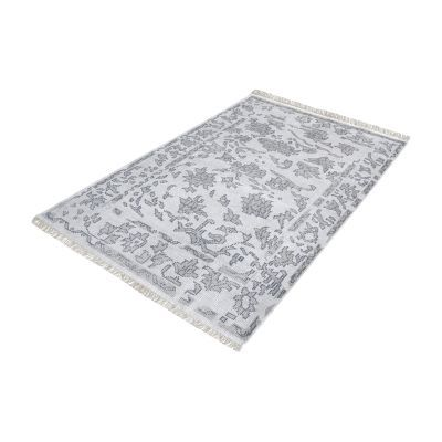 Harappa Handknotted Wool Rug In Grey - 9ft x 12ft - 8905-273