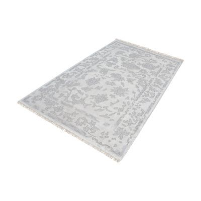 Harappa Handknotted Wool Rug In Silver & Ivory - 9ft x 12ft - 8905-283