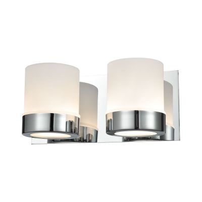 Mulholland 2 Light Vanity In Chrome And Opal Glass - BV2122-10-15