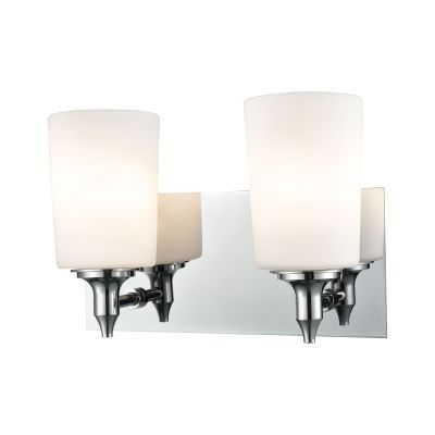 Alton Road 2 Light Vanity In Chrome And Opal Glass - BV2412-10-15