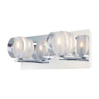 Circo 2 Light Vanity In Chrome And Polished Clear Glass - BV302-90-15
