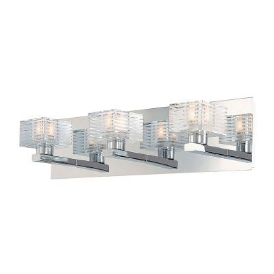 Quatra 3 Light Vanity In Chrome And Clear Glass - BV313-90-15