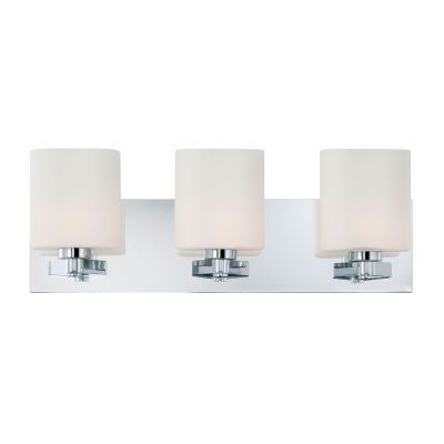Embro 3 Light Vanity In Chrome And Oval White Opal Glass - BV5503-10-15