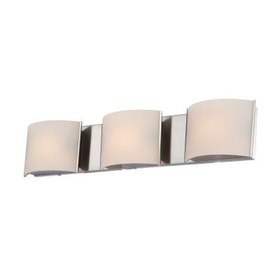 Pandora 3 Light Vanity In Satin Nickel And White Opal Glass - BV6T3-10-16M