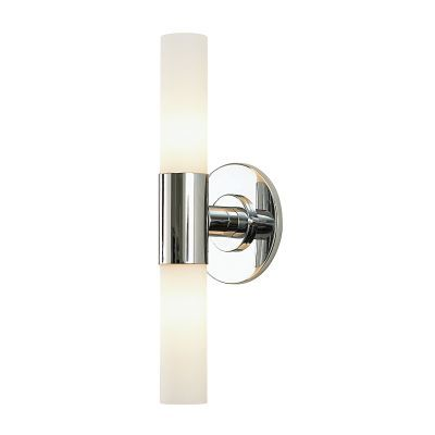 Double Cylinder 2 Light Vanity In Chrome & White Opal Glass - BV820-10-15