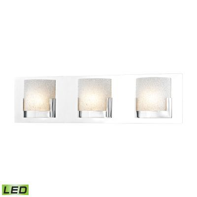 Ophelia 3 Light LED Vanity In Chrome And Clear Glass - BVL1203-0-15