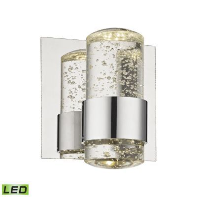 Surrey 1 Light LED Vanity In Chrome And Bubbled Glass - BVL151-0-15