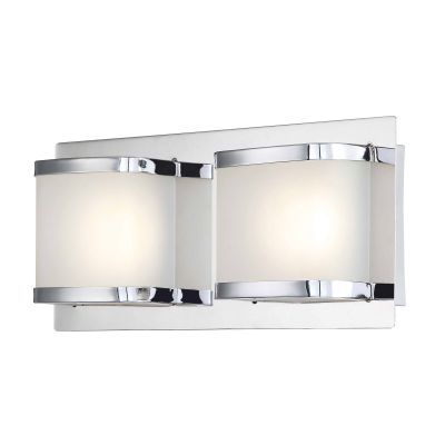 Bandeaux 2 Light LED Vanity In Chrome And Opal Glass - BVL4002-10-15