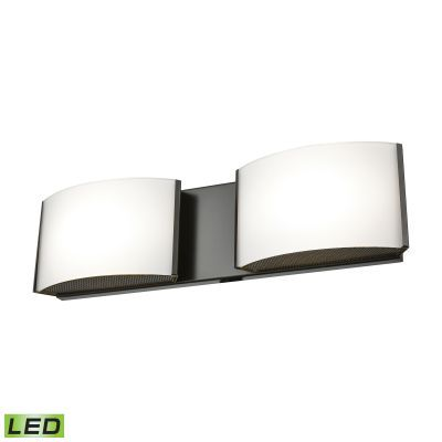 Pandora LED 2 Light LED Vanity In Oiled Bronze & Opal Glass - BVL912-10-45