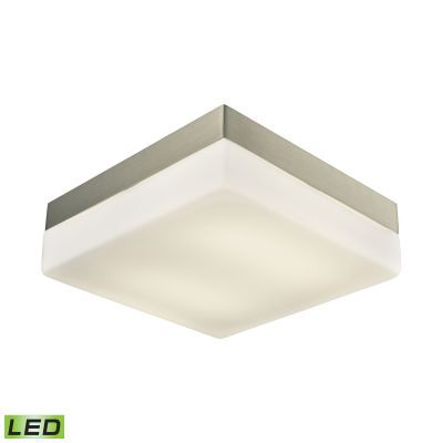 Wyngate 2 Light LED Flushmount In Satin Nickel & Glass - FML2030-10-16M