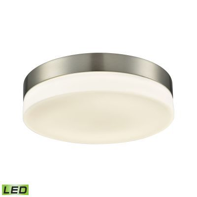 Holmby 1 Light Round Flushmount In Satin Nickel & Opal Glass - FML4075-10-16M