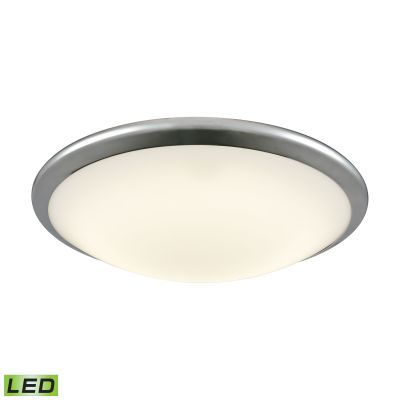 Clancy Round LED Flushmount In Chrome And Opal Glass - Large - FML4550-10-15