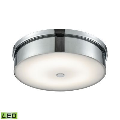 Towne Round LED Flushmount In Chrome And Opal Glass - Large - FML4950-10-15