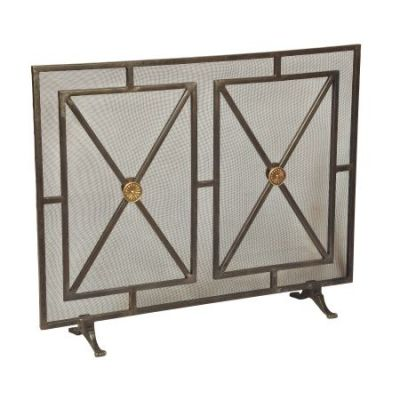 1 Panel Iron Fireplace Screen - 26796