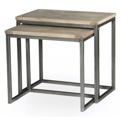 Overall Nesting Side Tables  Set Of 2 - 30142