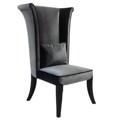 Mad Hatter Dining Chair In Gray Rich Velvet - LC847SIGR