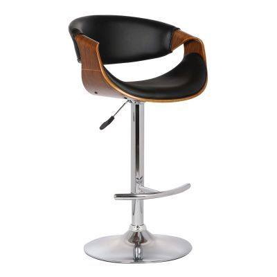 Butterfly Adjustable Swivel Barstool in Black Pu with Chrome - LCBUBAWABL