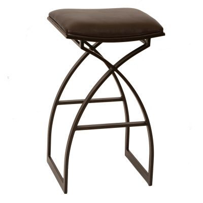 Harper 30'' Modern Barstool In Coffee and Auburn Bay Metal - LCHA30BABR
