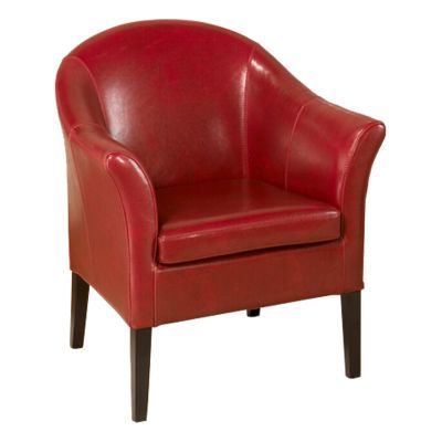Ashley Chair Red Leather Club - LCMC0011RE