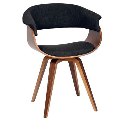 Summer Modern Chair In Charcoal Fabric and Walnut Wood - LCSUCHWACH