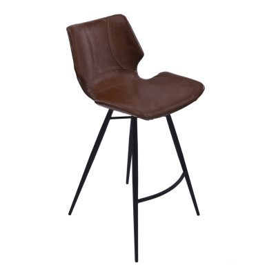Zurich 26'' Counter Height Barstool in Vintage Coffee Pu - LCZUBAVCBL26