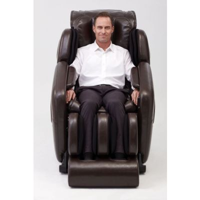 Deluxe Heated L-Track Massage Chair Zero Gravity in Expresso - IMR0046-31NA