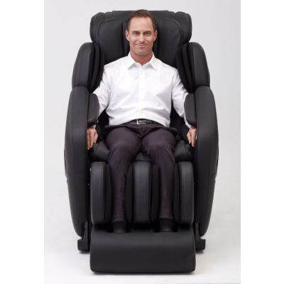 Deluxe Heated L-Track Massage Chair Zero Gravity in Black - IMR0046-08NA