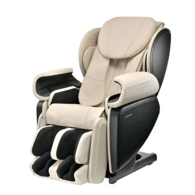 Ultra High Performance Deep Tissue 4D Massage Chair in Ivory - JMR0031-09NA