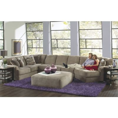 Malibu Sectional Sofa With Ottoman in Taupe - 001341_Kit