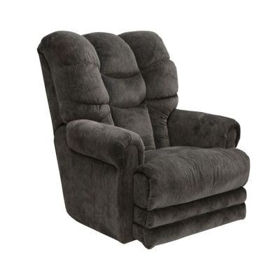 Malone Lay Flat Recliner with Extended Ottoman in Slate - 42577177053