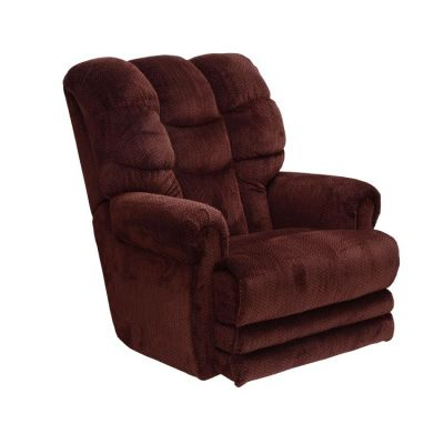 Malone Lay Flat Recliner with Extended Ottoman in Vino - 42577177040