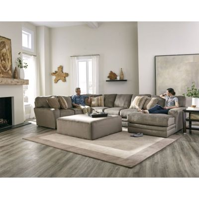 Everest Sectional With Cocktail Ottoman in Seal - 001349_Kit