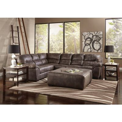 Grant 4-Piece Sectional Sofa With Cocktail Ottoman in Steel - 001338_Kit