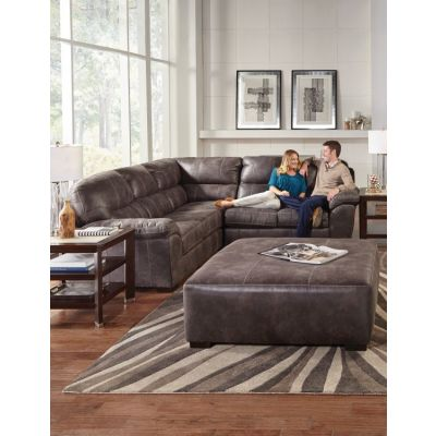Grant 3-Piece Sectional Sofa With 40'' Ottoman in Steel - 001337_Kit