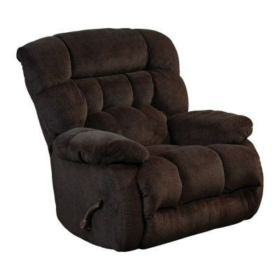 Daly Chaise Rocker Recliner in Chocolate - 47652162209